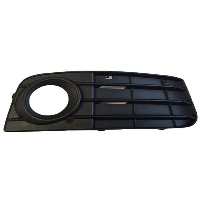 Audi A4 B8 Preface Front Bumper Grill  With Hole Right Plain Black