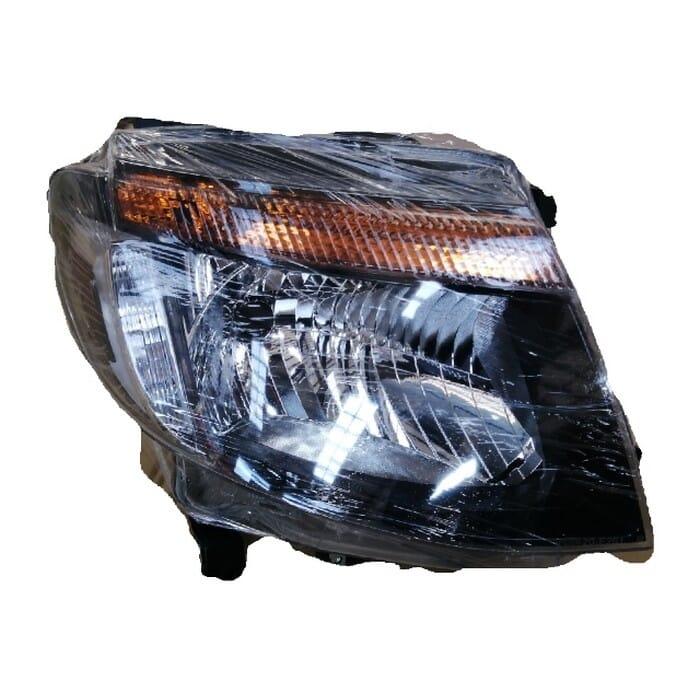 Ford Ranger T6 Headlight Black Inside Manual Right