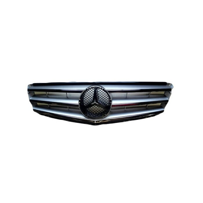 Mercedes-benz W204 Main Grill Silver