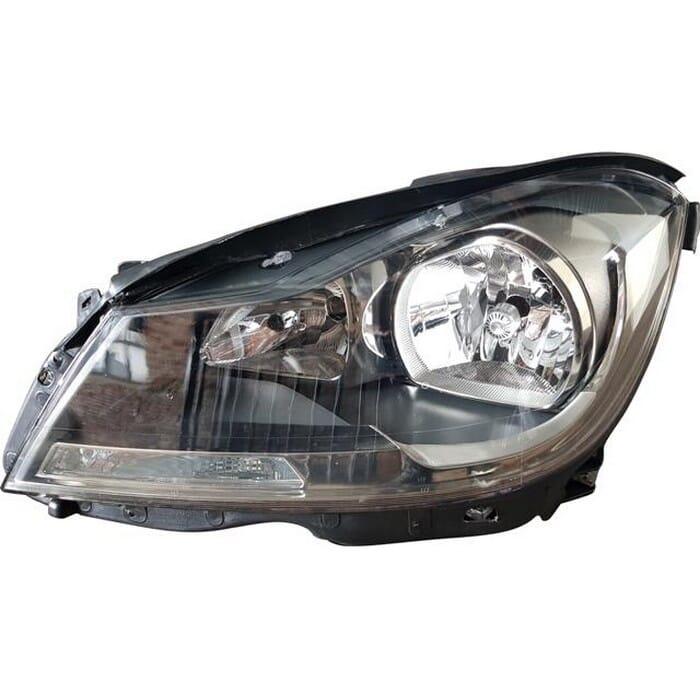 Mercedes-benz W204 Headlight Black Inside Non Xenon Left