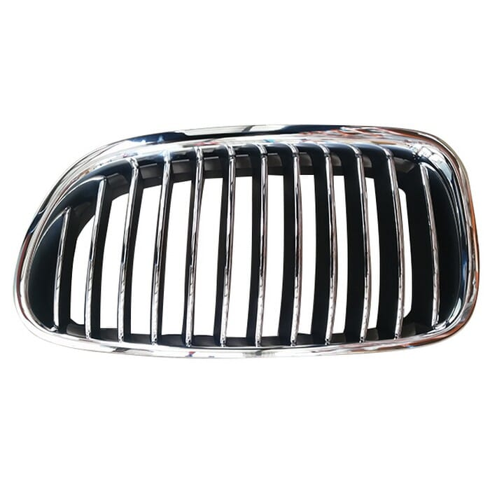 Bmw F10 Main Grill Chrome With Chrome Fin Left