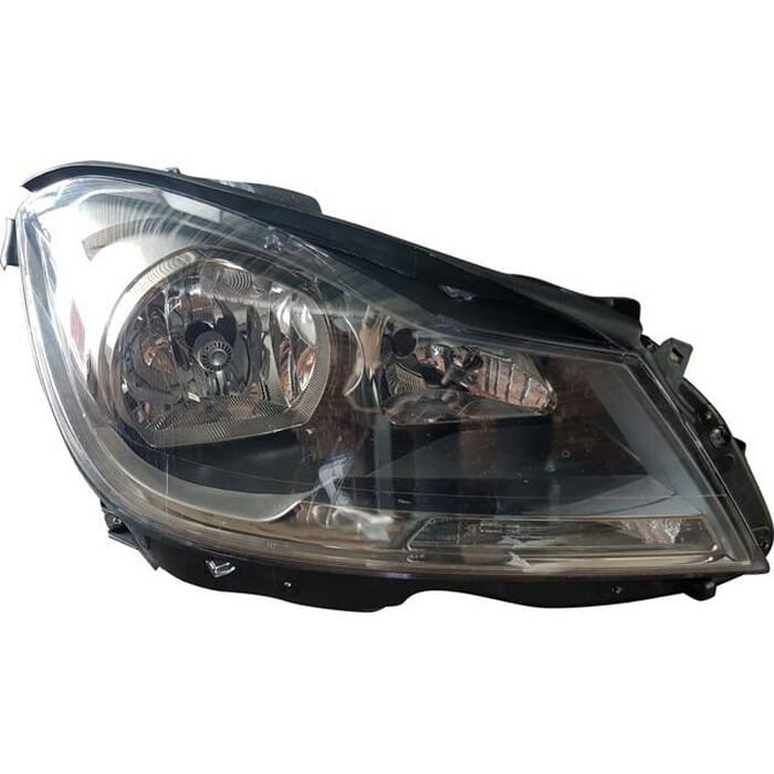 Mercedes-benz W204 Headlight Black Inside Non Xenon Right