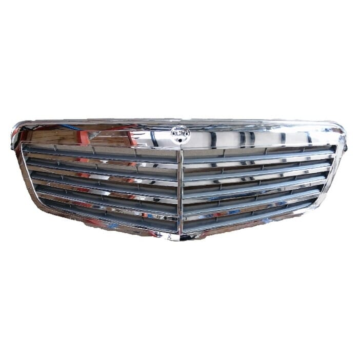 Mercedes-benz W212 Main Grill With Chrome Beading