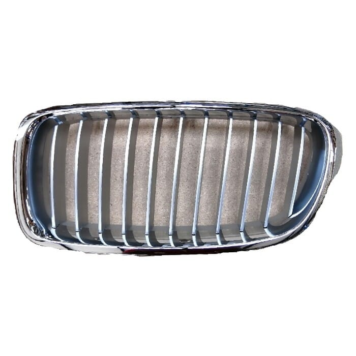 Bmw F30 Main Grill Chrome With Chrome Fin Left
