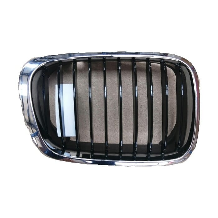 Bmw E46 Preface Main Grille Chrome Frame With Black Fins Right