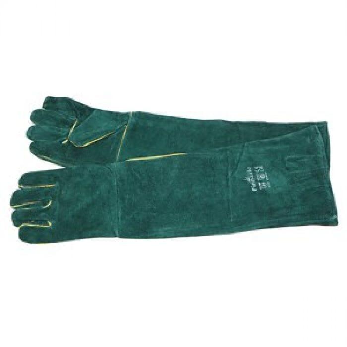 "Pinnacle Green Lined Glove Shoulder Length 16"" ( Priced per pair )"