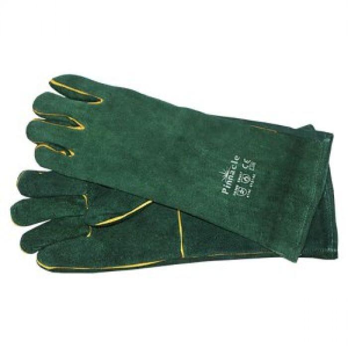 "Pinnacle Green Lined Glove Elbow Length 8 ""  ( Priced per pair )"