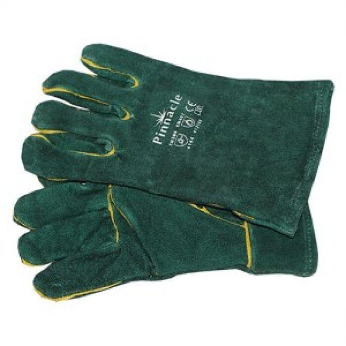 "Pinnacle Green Lined Glove Wrist Length 2.5"" (Priced Per Pair )"