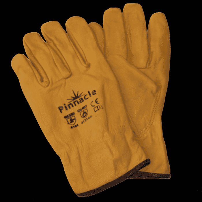 Pinnacle Yellow Leather NAPA Glove (Made of Cow Hide) Size L (priced per pair )