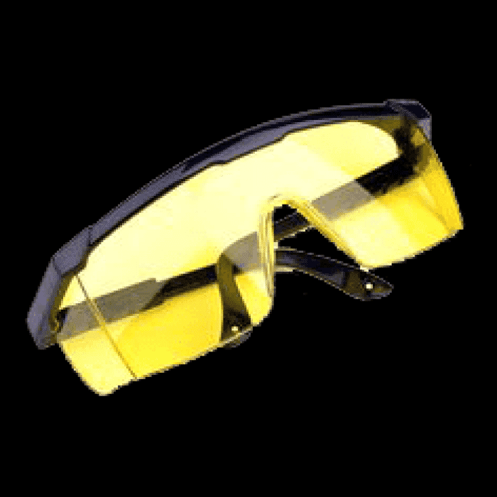 Pinnacle Safety Spectacles EURO Amber Adjustable Frame