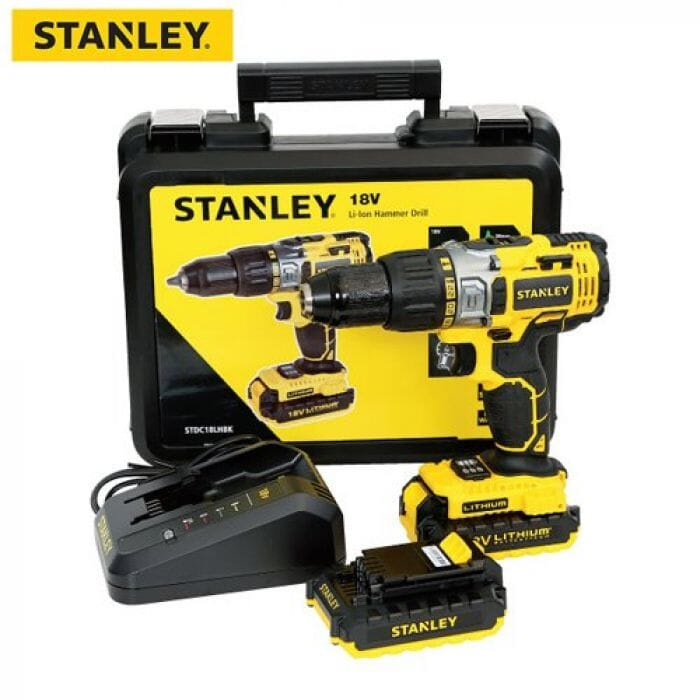 Stanley Cordless Drill 18V Li-Ion - With Hammer Action