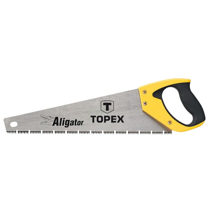 """Topex HAND SAW FOR WOOD 400MM. """"ALLIGATOR"""". (10A441)"""