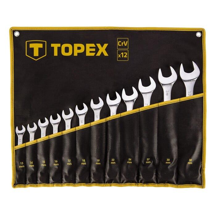 Topex COMBINATION SPANNER SET 13-32MM 12 PC (35D758)