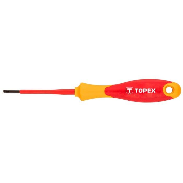 Topex SCREWDRIVER FLAT 2.5X75MM 1000V (39D470)