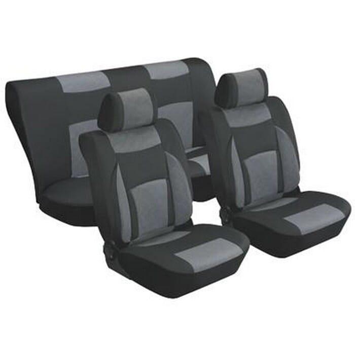 Universal 8 Pcs Seat Cover - Black