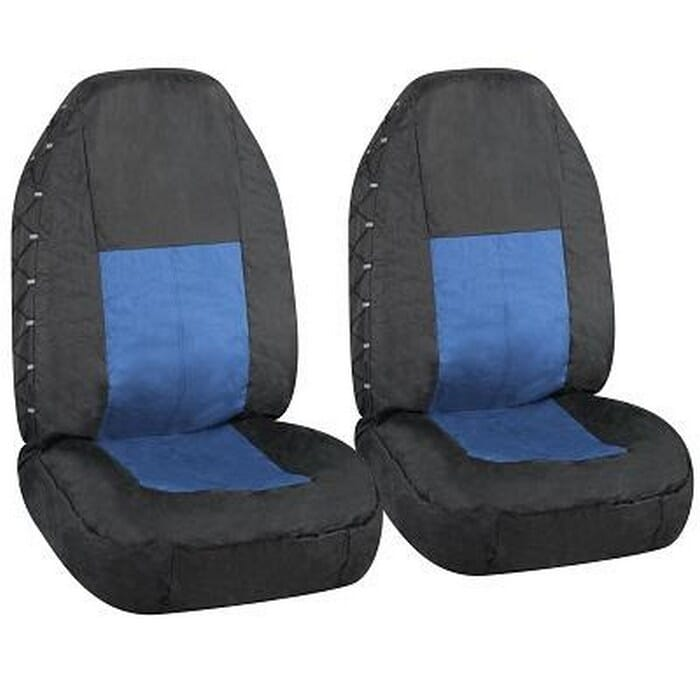 Universal Seat Cover Black+Blue 4X4 Front