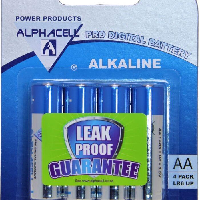 Alphacell Alkaline – Pro Digital Battery – AA (LR6) – 4Pack