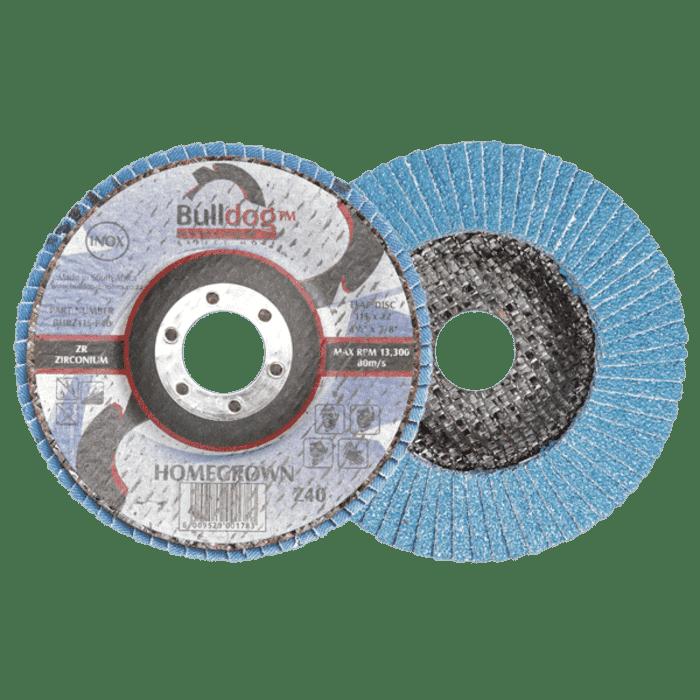HB Body Bulldog Flapper Disc 180mm X P80 Zirconia