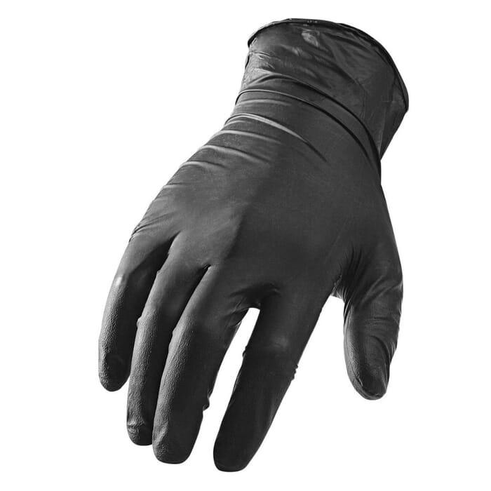 HB Body Car System Nitrile Gloves Black Large (100's)