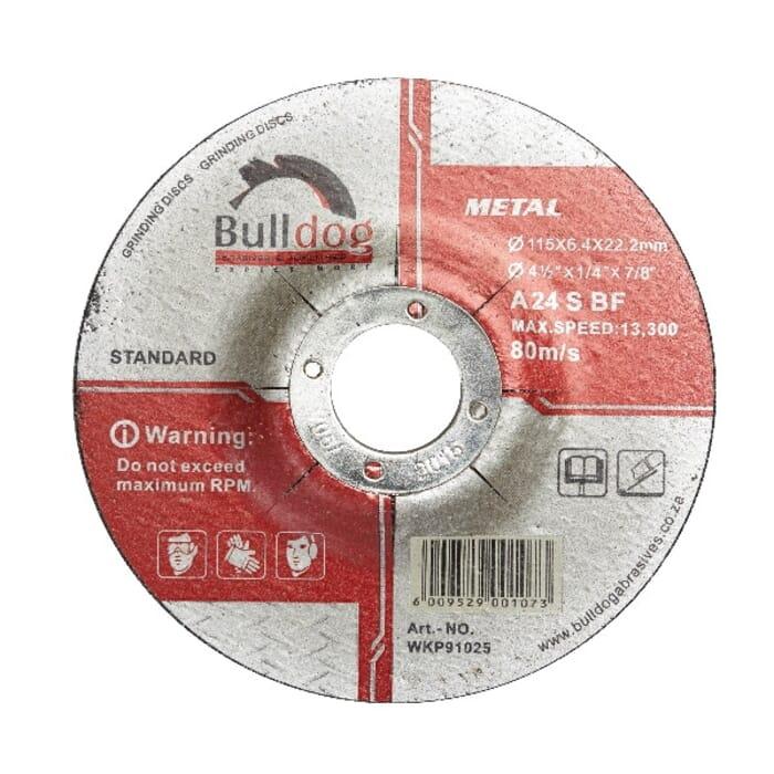HB Body Bulldog Steel Grinding Disc 115mm X 6.4mm Professional (Each)