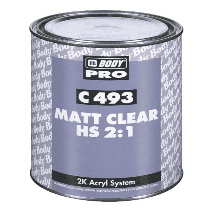 HB Body HB Clear Coat 493 Matt 1lt