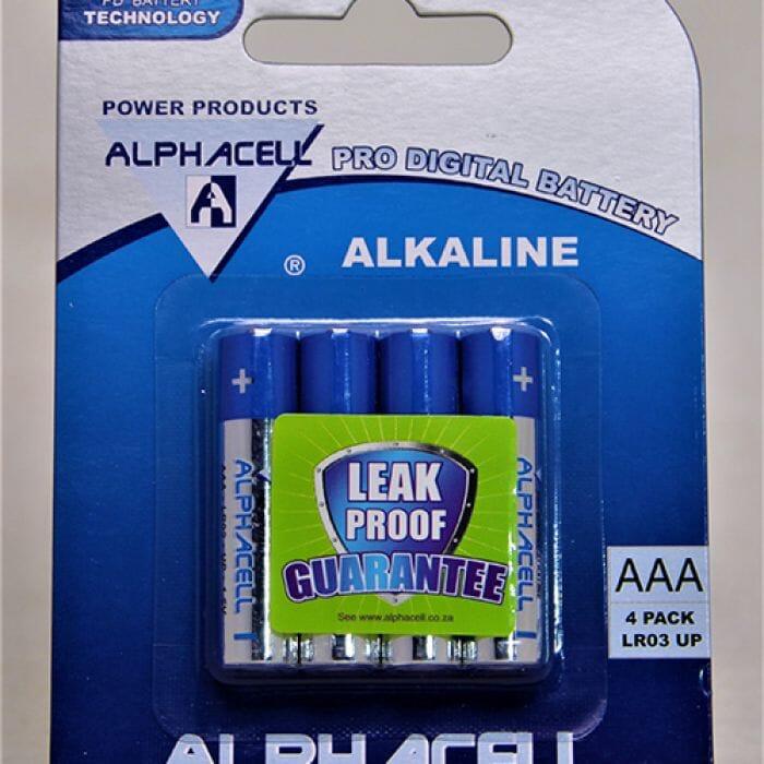 Alphacell Alkaline – Pro Digital Battery – AAA (LR3) – 4Pack