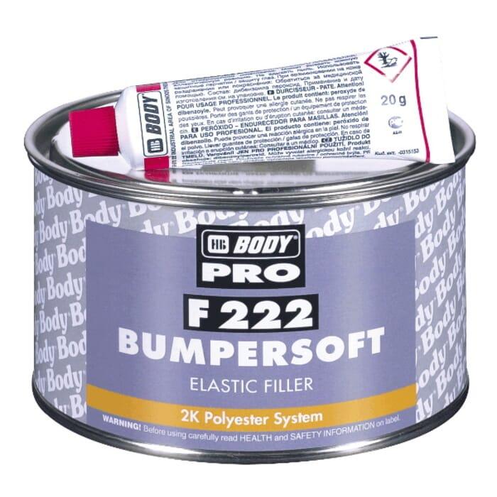 HB Body HB Body Filler 222 Bumpersoft Black 1kg