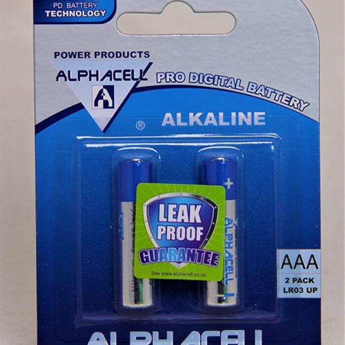 Alphacell Alkaline – Pro Digital Battery – AAA (LR3) – 2Pack