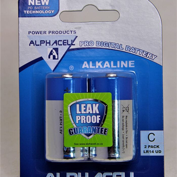 Alphacell Alkaline – Pro Digital Battery – C (LR14) – 2Pack