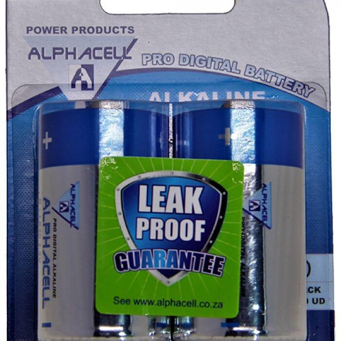 Alphacell Alkaline – Pro Digital Battery – D (LR20) – 2Pack
