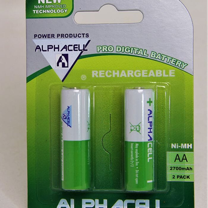 Alphacell Rechargeable Nimh - AA (2 pack) 2700Mah