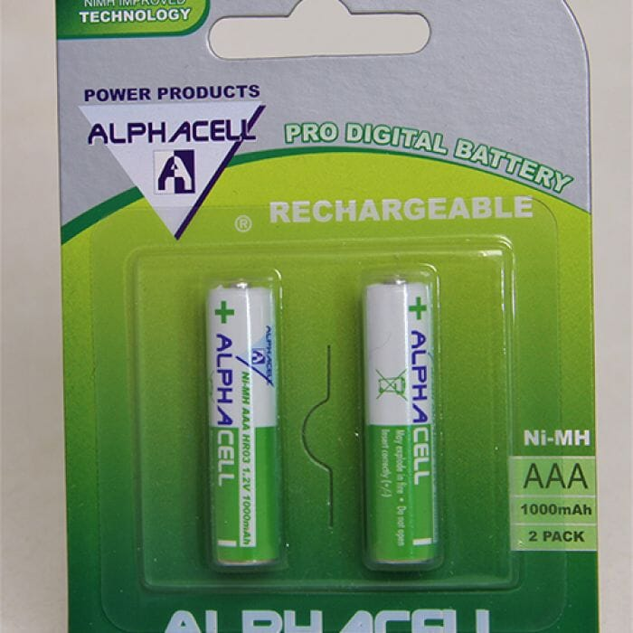 Alphacell Rechargeable Nimh - AAA (2 pack) 1000Mah