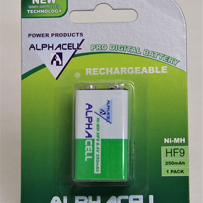 Alphacell Rechargeable Nimh - 9V (1 pc) 250Mah