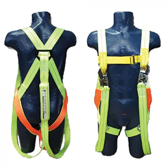 Pinnacle Safety Harness Double Lanyard Shock Absorber Full Body with Snap hook