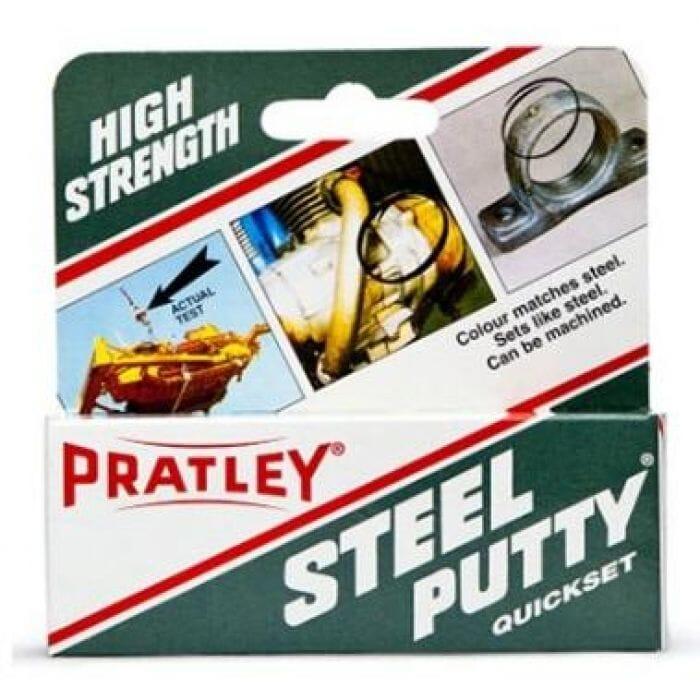 Pratley Adhesive Epoxy Steel Putty 125g