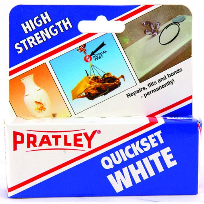 Pratley Adhesive Epoxy Quick Set Glue 40ml - White