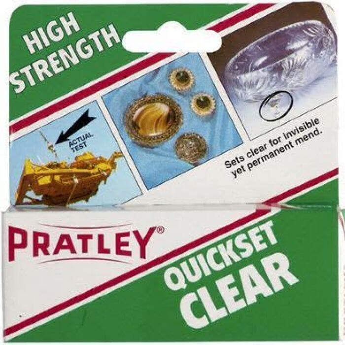 Pratley Adhesive Epoxy Quick Set Glue 40ml - Clear