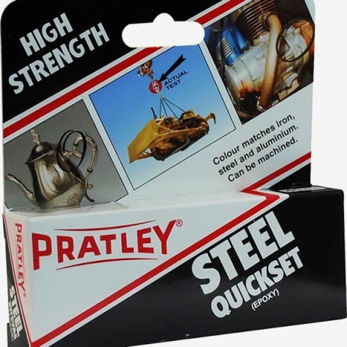 Pratley Adhesive Epoxy Quick Set Steel Glue 40ml