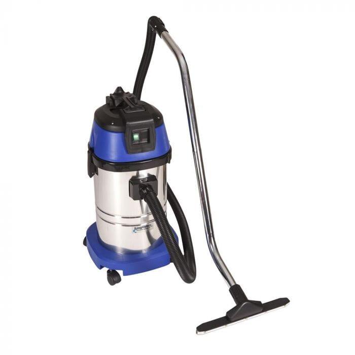 Promop Kingfisher Wet/Dry Vacuum Cleaner 30lt Stainless Steel