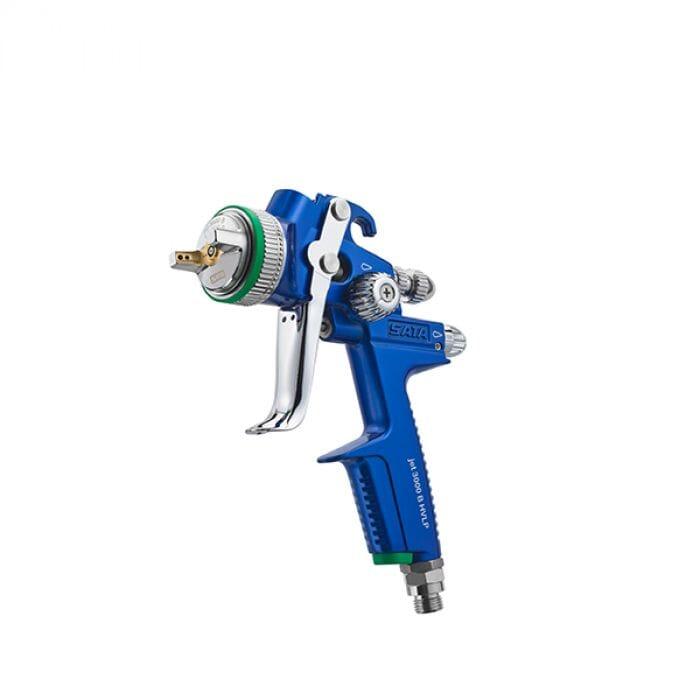 SATA SATA Jet 3000 B HVLP Spray gun with 0.6 l QCC reusable plastic gravity flow cup without swivel joint