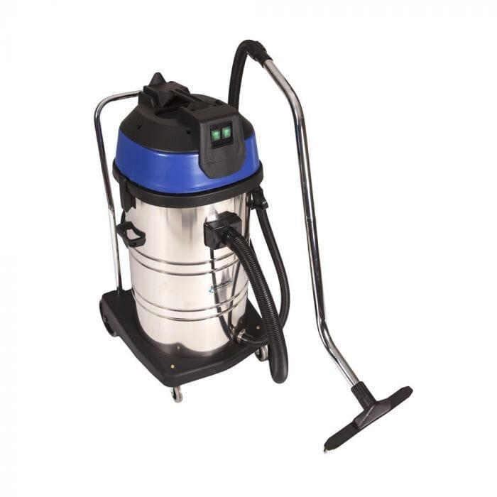 Promop Kingfisher Wet/Dry Vacuum Cleaner 80lt Stainless Steel - Dual motors