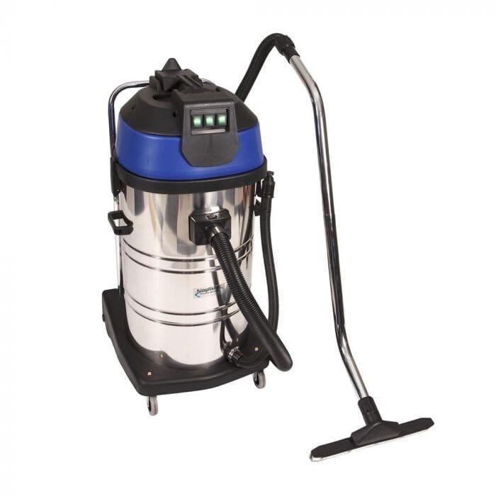 Promop Kingfisher Wet/Dry Vacuum Cleaner 80lt Stainless Steel - Three motors