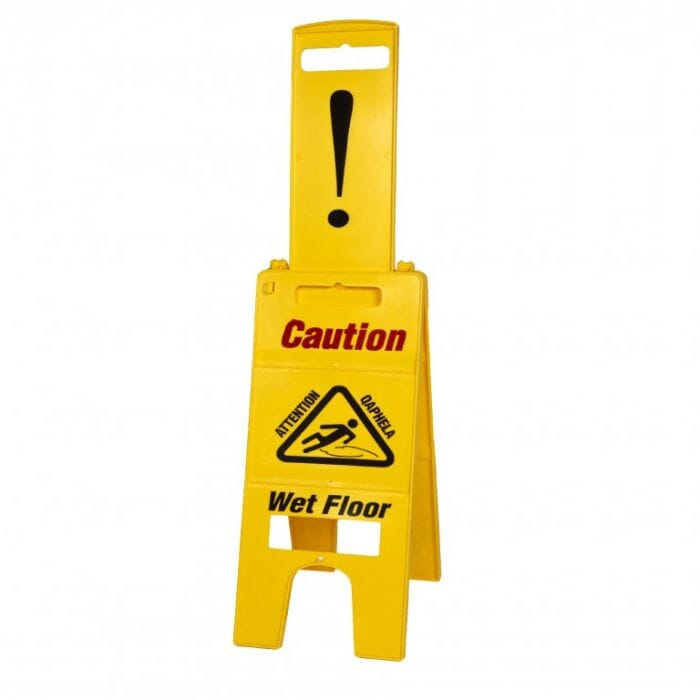 Promop Wet floor Sign - With Top Pull Out Warning Tab