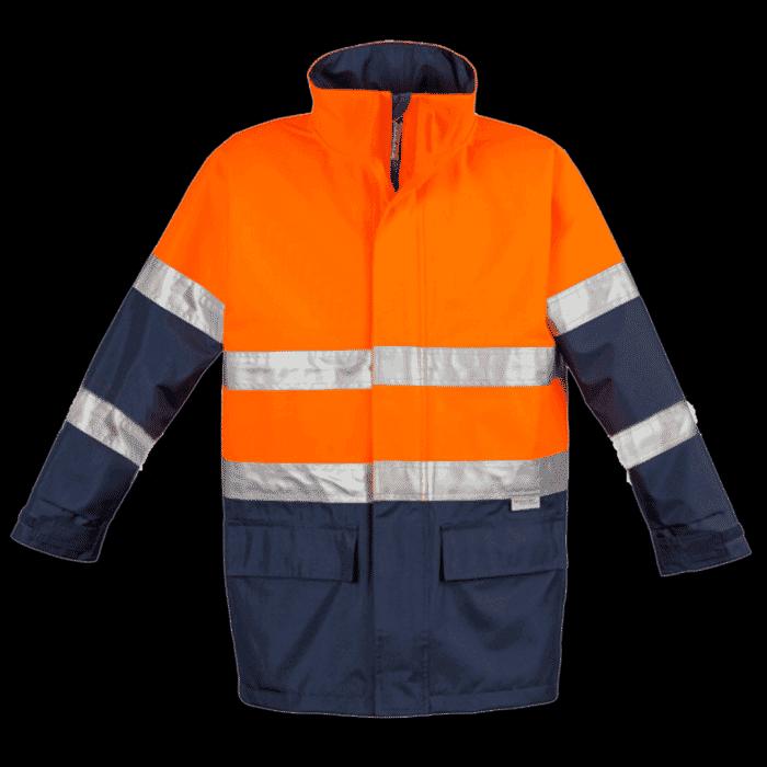 Pinnacle Two Tone Freezer Jacket Orange / Navy