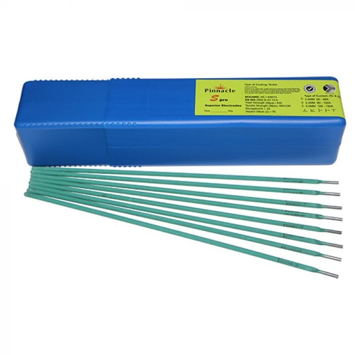 Pinnacle S Pro Mild Steel Electrodes Premium Green Coating 5kg  2mm, 2.5mm and 3.2mm