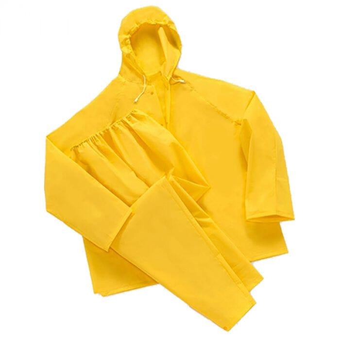 Pinnacle Pinnacle Yellow Rubberised Rain Suit Size S - 2XL