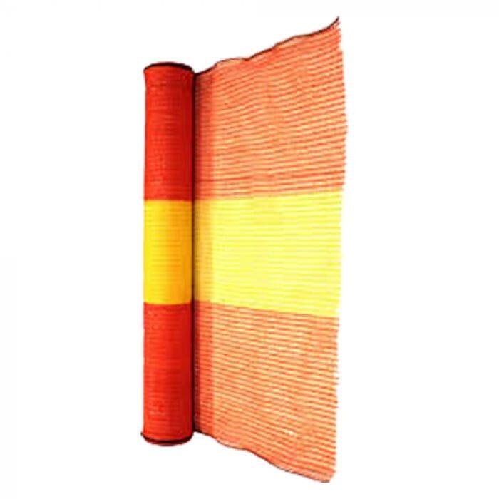 Pinnacle Barrier Netting Woven Orange /Yellow 50m Roll