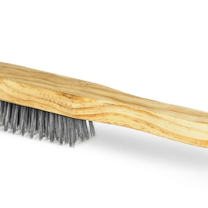 Promop Stainless Steel Wire Brush With Wooden Handle