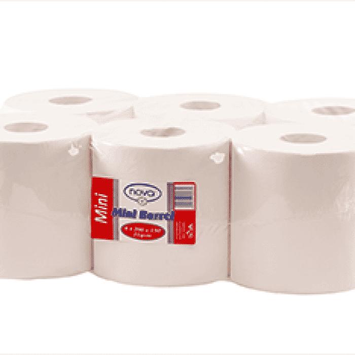 Nova Mini Barrel Paper Towel Rolls - 6 Pack