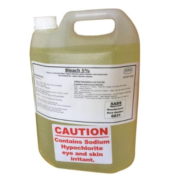 Chemcon Bleach 5% (Sodium Hypochlorite) 5lt